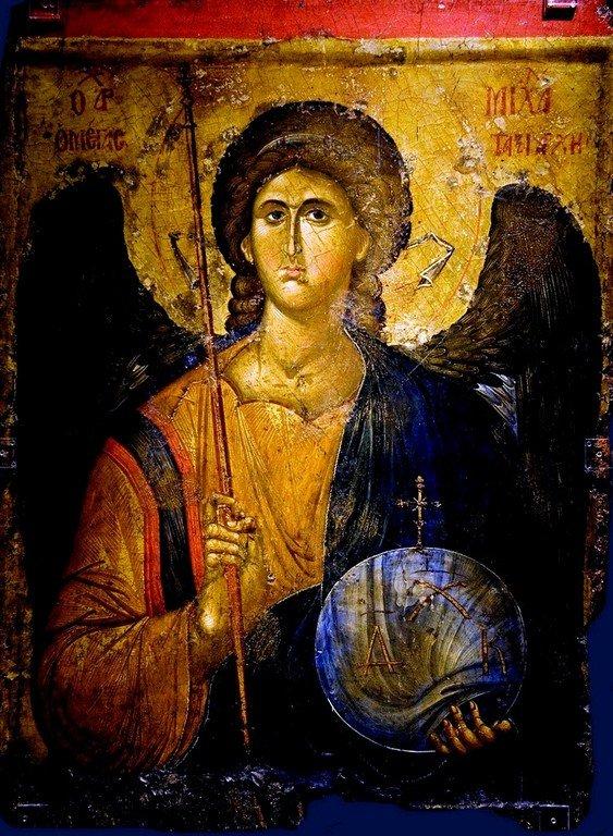 Архангел Михаил. Икона. Византия, XIV век. Византийский музей в Афинах.