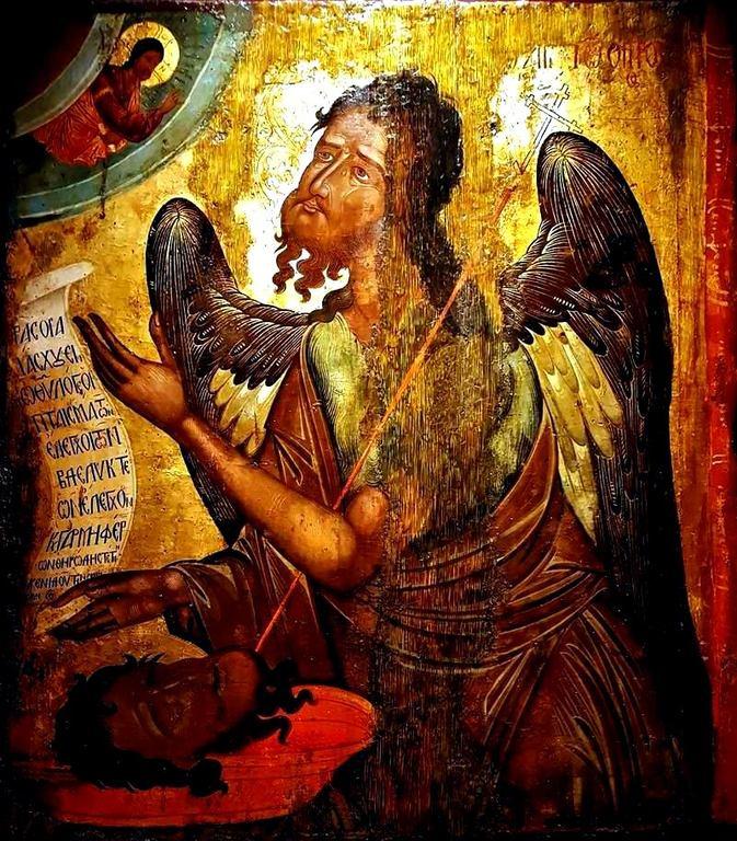 Святой Иоанн Предтеча Ангел пустыни. Греческая икона XVII века. Музей Антивуниотисса, Керкира.