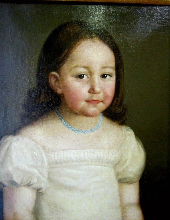 Неизвестный художник. Россия. Портрет девочки из семьи Лачиновых.