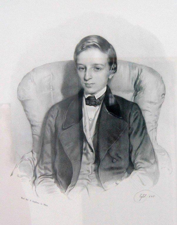 Франц Эйбль (1806-1880). Портрет неизвестного. 1846 г. Литография.