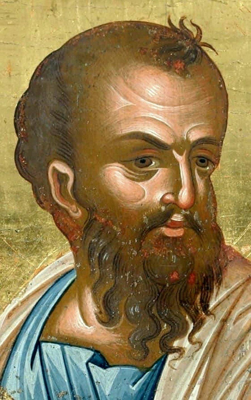 Святой Апостол Павел. Кипрская икона XVI века (?). Фрагмент.