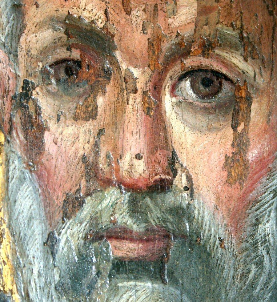Святой Апостол Пётр. Византийская икона VI века. Монастырь Святой Екатерины на Синае. Фрагмент.