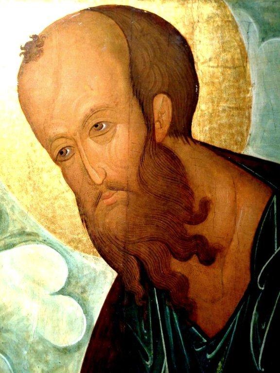 "Святой Апостол Павел. Икона из ""облачного"" деисусного чина. Москва, XV век. Лик."