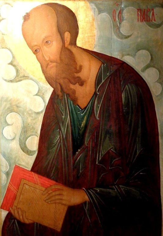"Святой Апостол Павел. Икона из ""облачного"" деисусного чина. Москва, XV век."