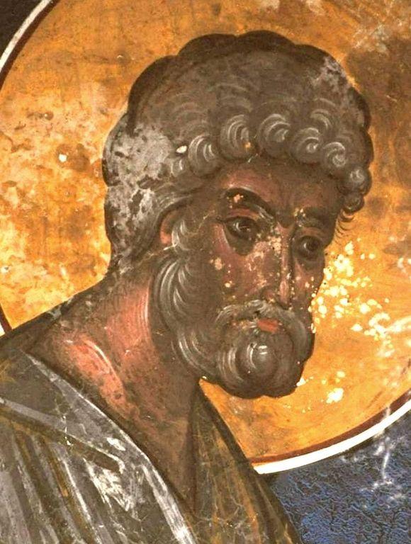 Святой Апостол Пётр. Фреска церкви Святого Георгия в монастыре Гелати, Грузия. XVI век.
