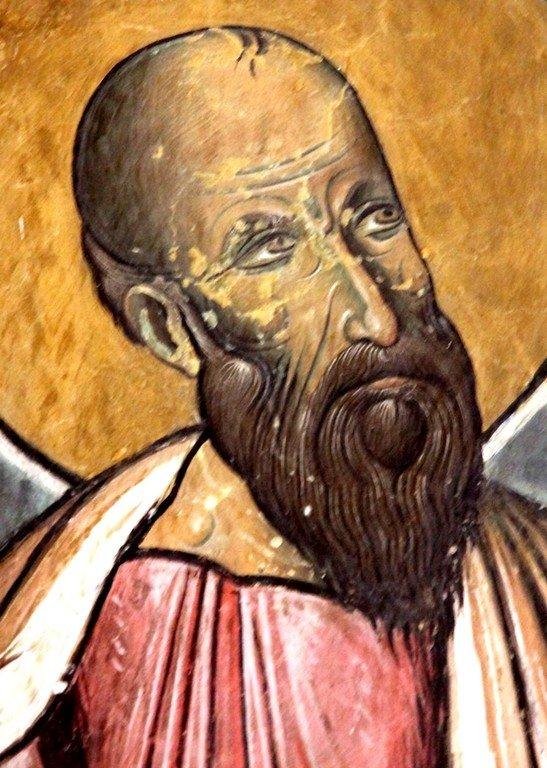 Святой Апостол Павел. Фреска церкви Панагии Аракиотиссы в деревне Лагудера на Кипре. 1192 год.