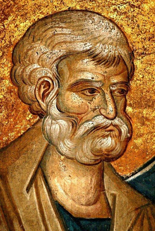 Святой Апостол Пётр. Фреска монастыря Высокие Дечаны, Косово, Сербия. Около 1350 года.