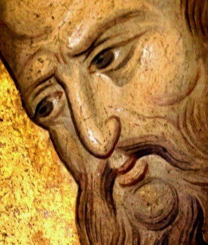 СВЯТЫЕ АПОСТОЛЫ ПЁТР И ПАВЕЛ. Фрески монастыря Высокие Дечаны, Косово, Сербия. Около 1350 года.
