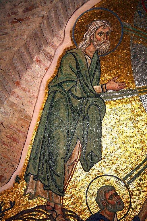 Преображение Господне. Мозаика монастыря Дафни близ Афин. Вторая половина XI века. Фрагмент. Святой Пророк Илия.