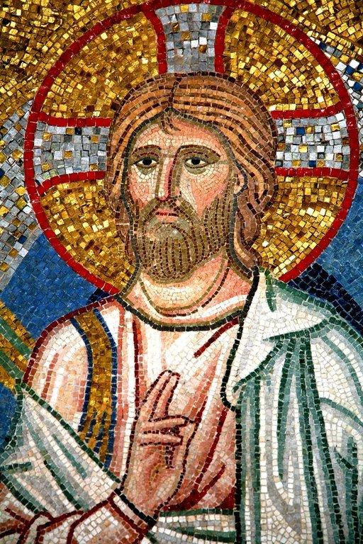 Преображение Господне. Мозаика монастыря Дафни близ Афин. Вторая половина XI века. Фрагмент. Господь наш Иисус Христос.