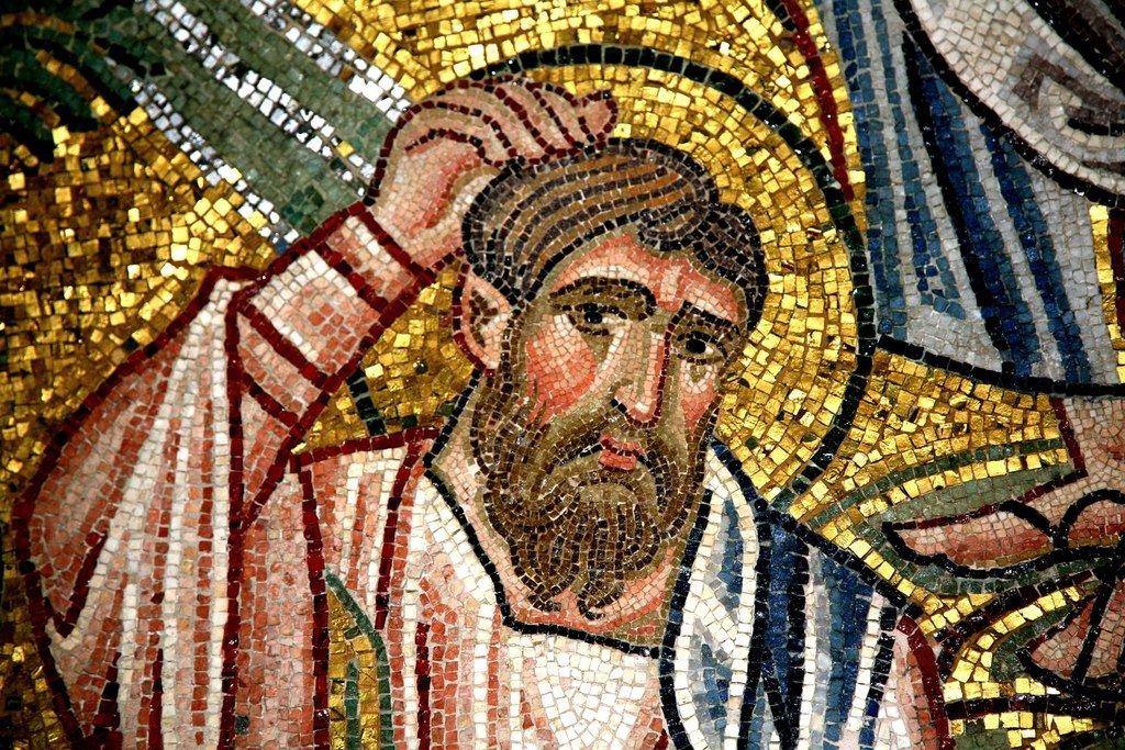 Преображение Господне. Мозаика монастыря Дафни близ Афин. Вторая половина XI века. Фрагмент. Святой Апостол Иаков Зеведеев.