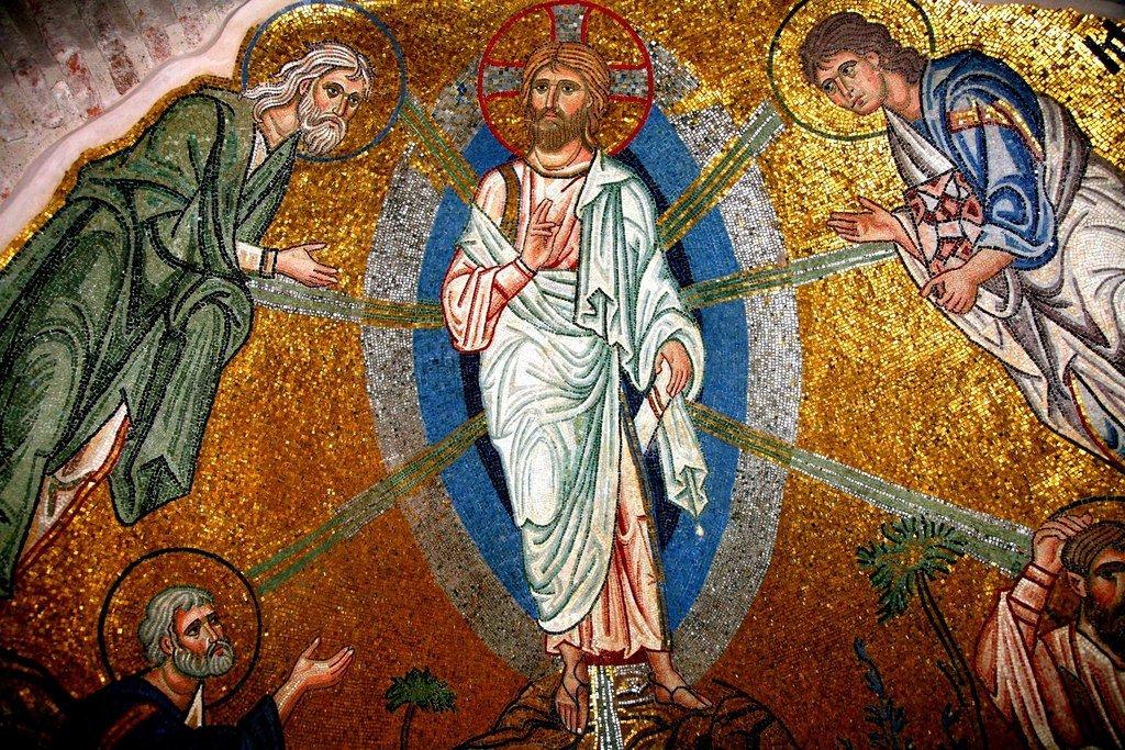 Преображение Господне. Мозаика монастыря Дафни близ Афин. Вторая половина XI века. Фрагмент.