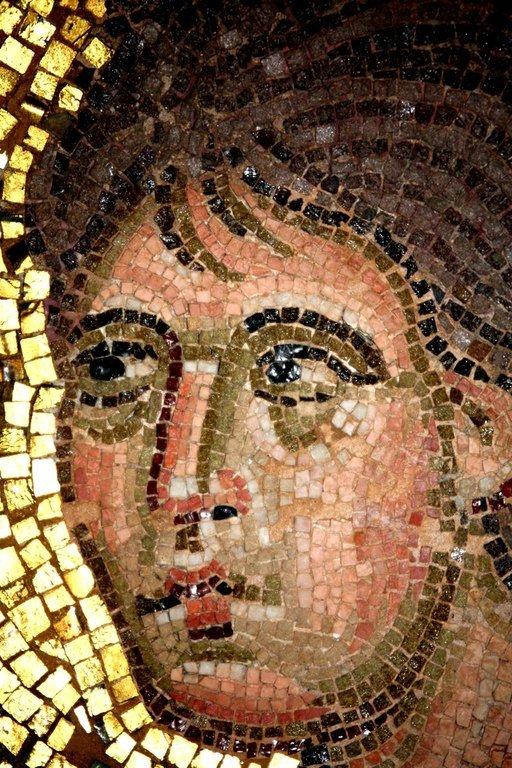 Преображение Господне. Мозаика монастыря Дафни близ Афин. Вторая половина XI века. Фрагмент. Святой Пророк Моисей.