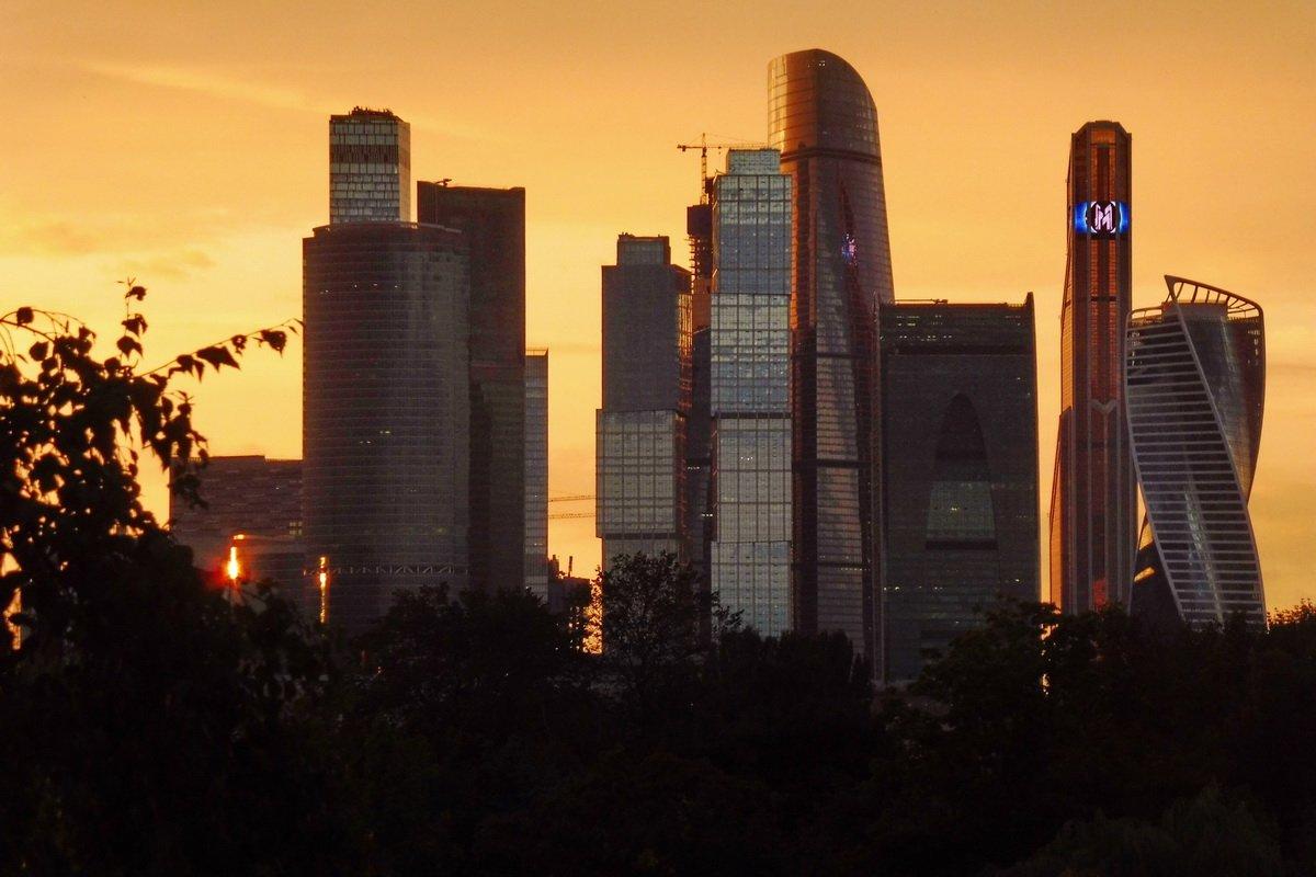 Сити на закате