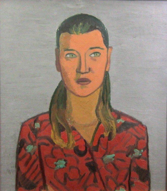 Тимофей Фёдорович Теряев (1919-2001 гг.). Девушка в красном пёстром платье.