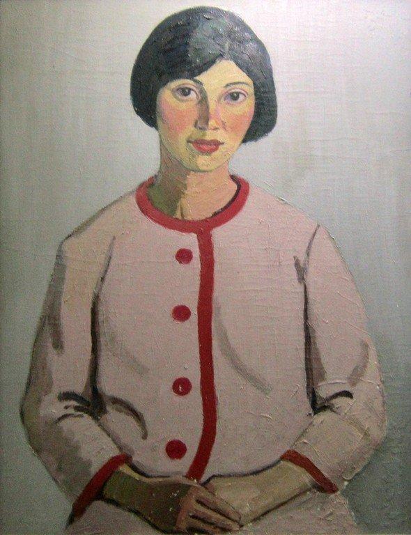 Тимофей Фёдорович Теряев (1919-2001 гг.). Портрет женский. 1970-е годы.