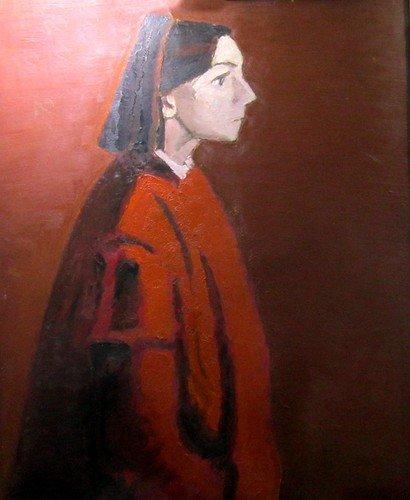 Тимофей Фёдорович Теряев (1919-2001 гг.). Портрет девушки. 1987 год.