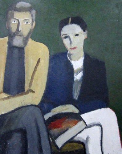 Тимофей Фёдорович Теряев (1919-2001 гг.). Двойной портрет. 1992 год.