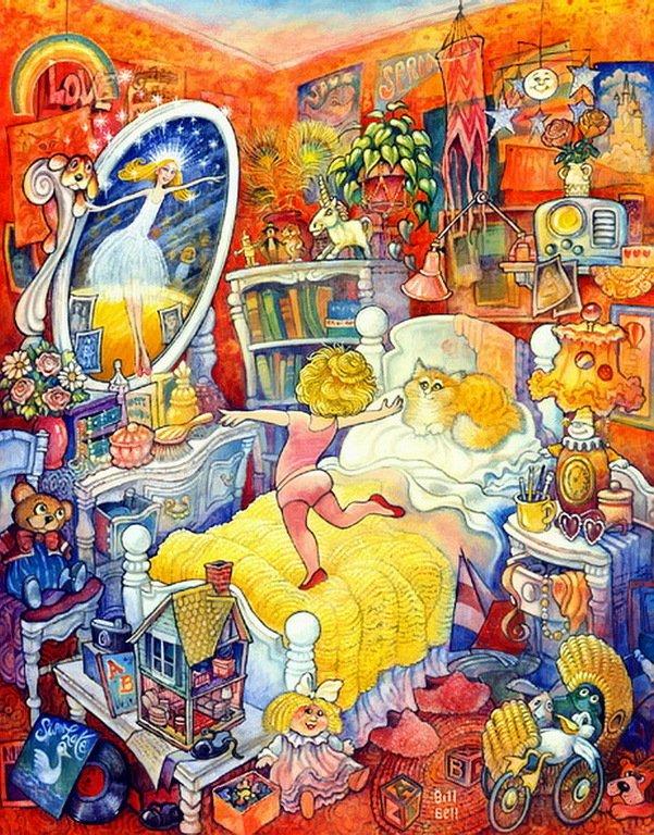 Куклы в картинах  художника Билла Белла