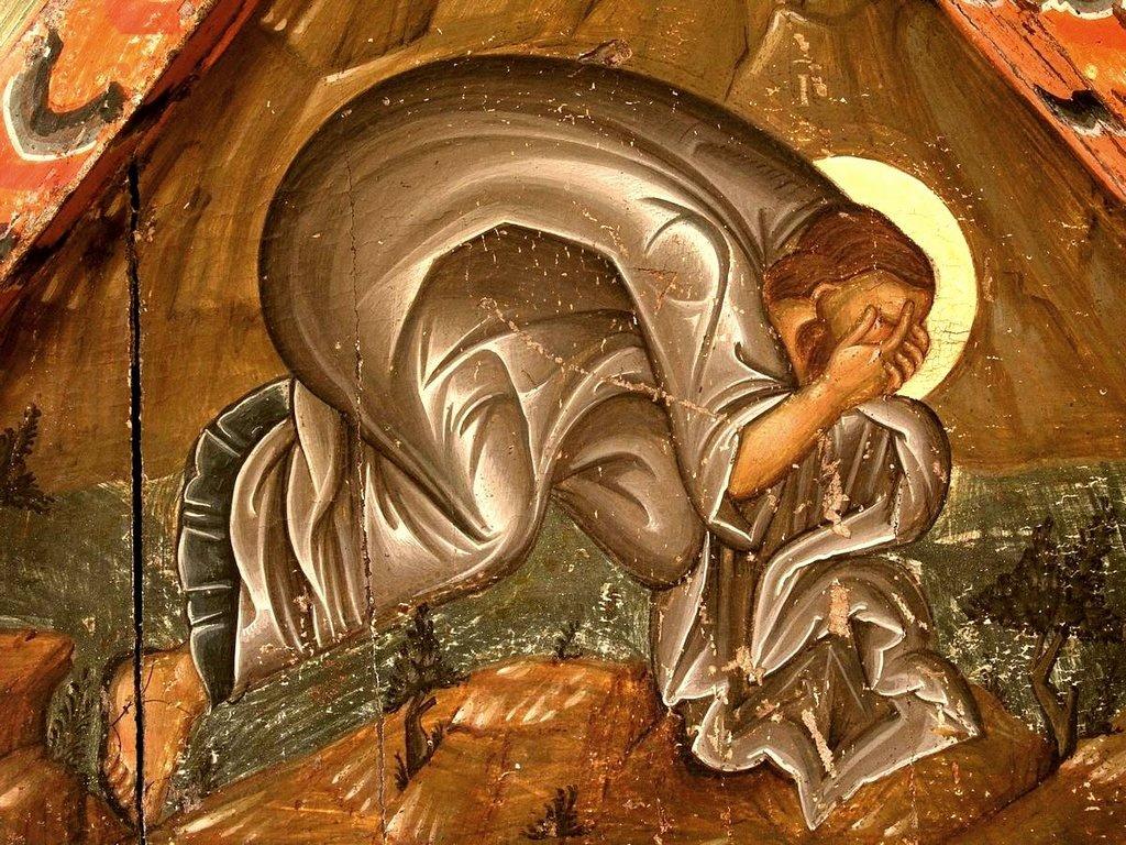 Преображение Господне. Кипрская икона первой половины XVI века. Фрагмент. Святой Апостол Иаков Зеведеев.