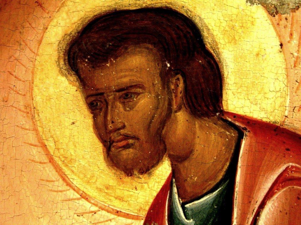 Преображение Господне. Кипрская икона первой половины XVI века. Фрагмент. Святой Пророк Моисей Боговидец.