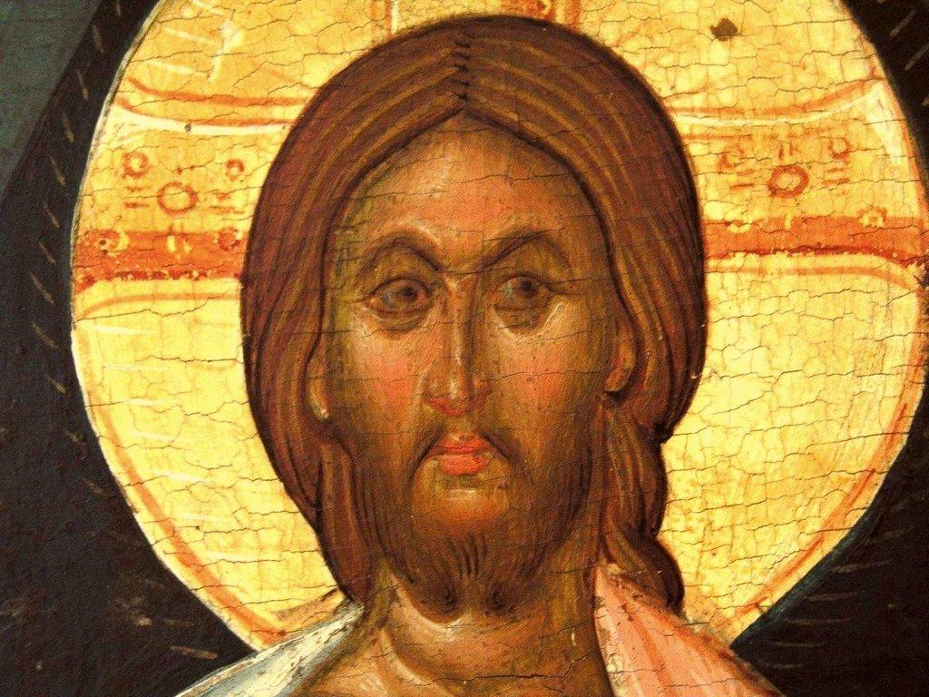 Преображение Господне. Кипрская икона первой половины XVI века. Фрагмент.