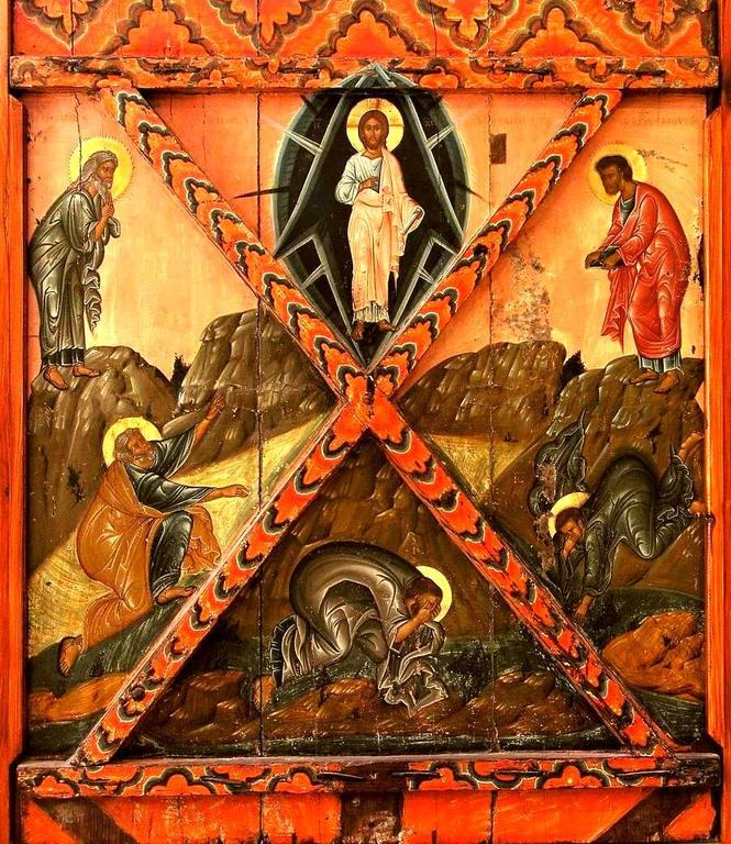 Преображение Господне. Кипрская икона первой половины XVI века.
