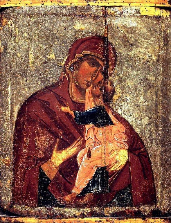 Толгская икона Божией Матери. Около 1327 года.
