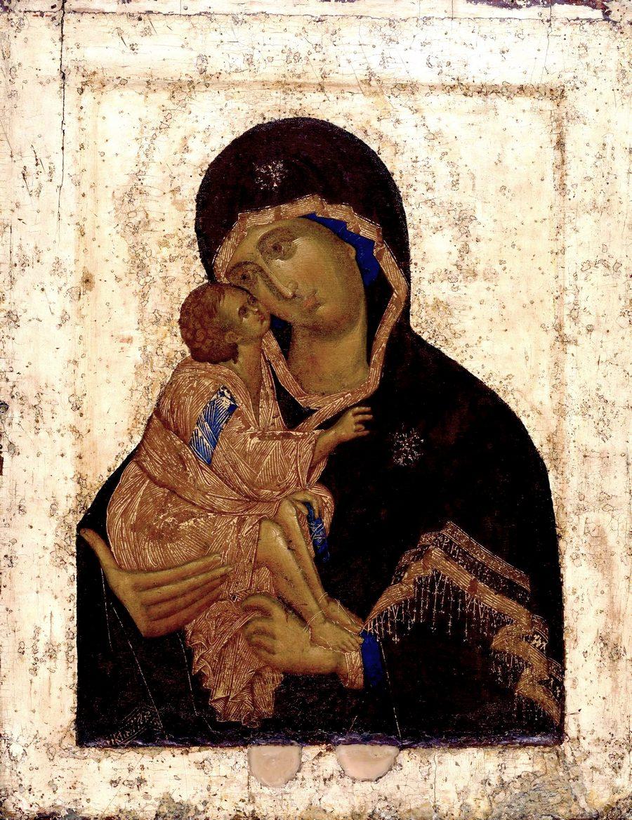 Чудотворная Донская икона Божией Матери. XIV век. Иконописец Феофан Грек.
