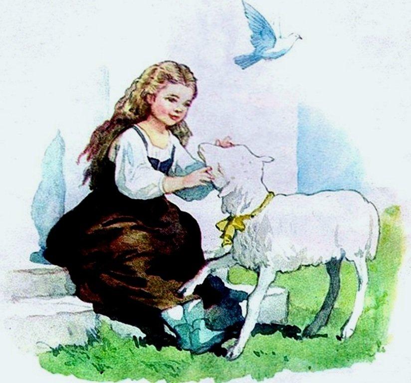 ИЛЛЮСТРАЦИЯ Б. ДЕХТЕРЕВА К СКАЗКЕ БРАТЬЕВ ГРИММ «КРАСНАЯ ШАПОЧКА».