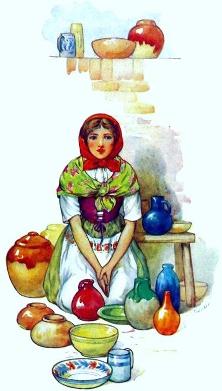 ИЛЛЮСТРАЦИЯ К СКАЗКЕ БРАТЬЕВ ГРИММ «КОРОЛЬ ДРОЗДОБОРОД»02.