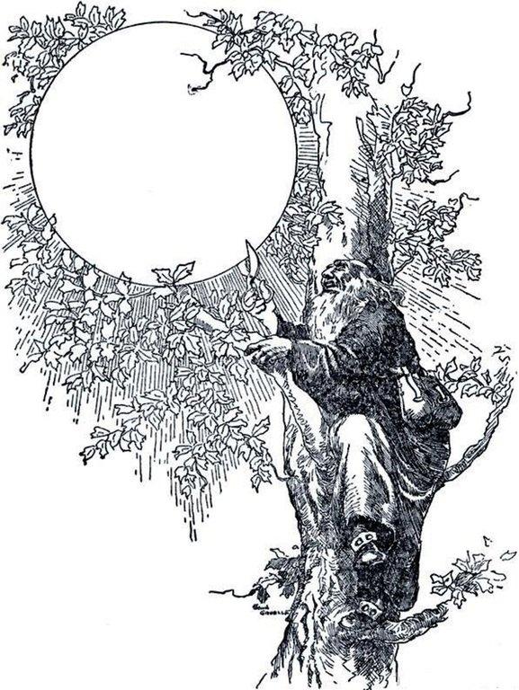 ИЛЛЮСТРАЦИЯ Д. ГРУЭЛЛА К СКАЗКЕ БРАТЬЕВ ГРИММ «ЛУНА»