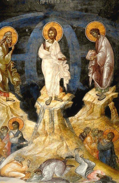 Преображение Господне. Фреска монастыря Грачаница, Косово, Сербия. Около 1320 года.