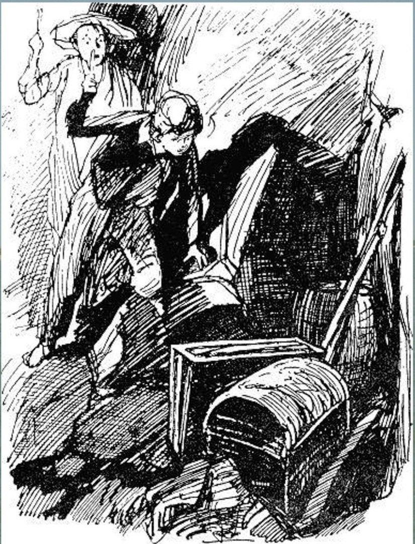 Иллюстрация В. Н. Горяева к пр-ю М.Твена Приключения Тома Сойера (43).