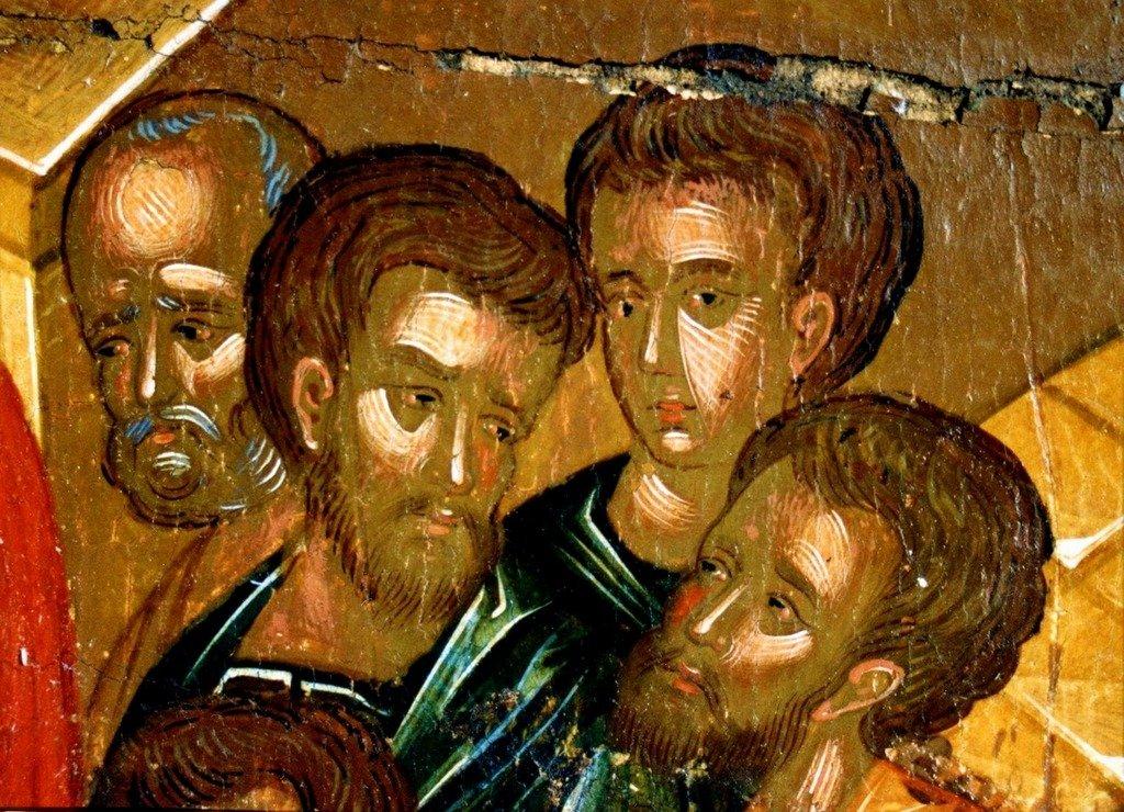 Успение Пресвятой Богородицы. Греческая икона 1742 года. Фрагмент.