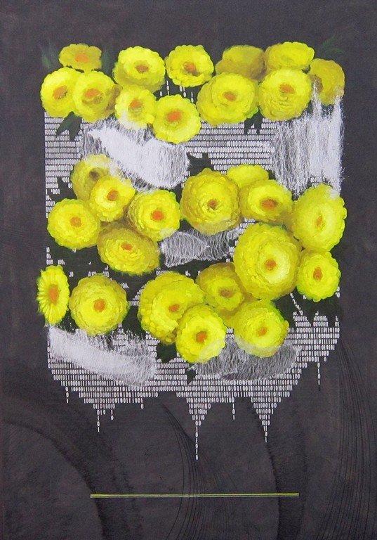 Daniil Night. Жёлтые хризантемы.