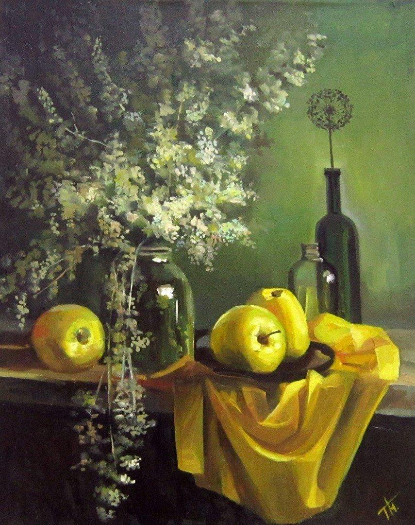 Татьяна Никитина. Жёлтые яблоки. 2020 год.