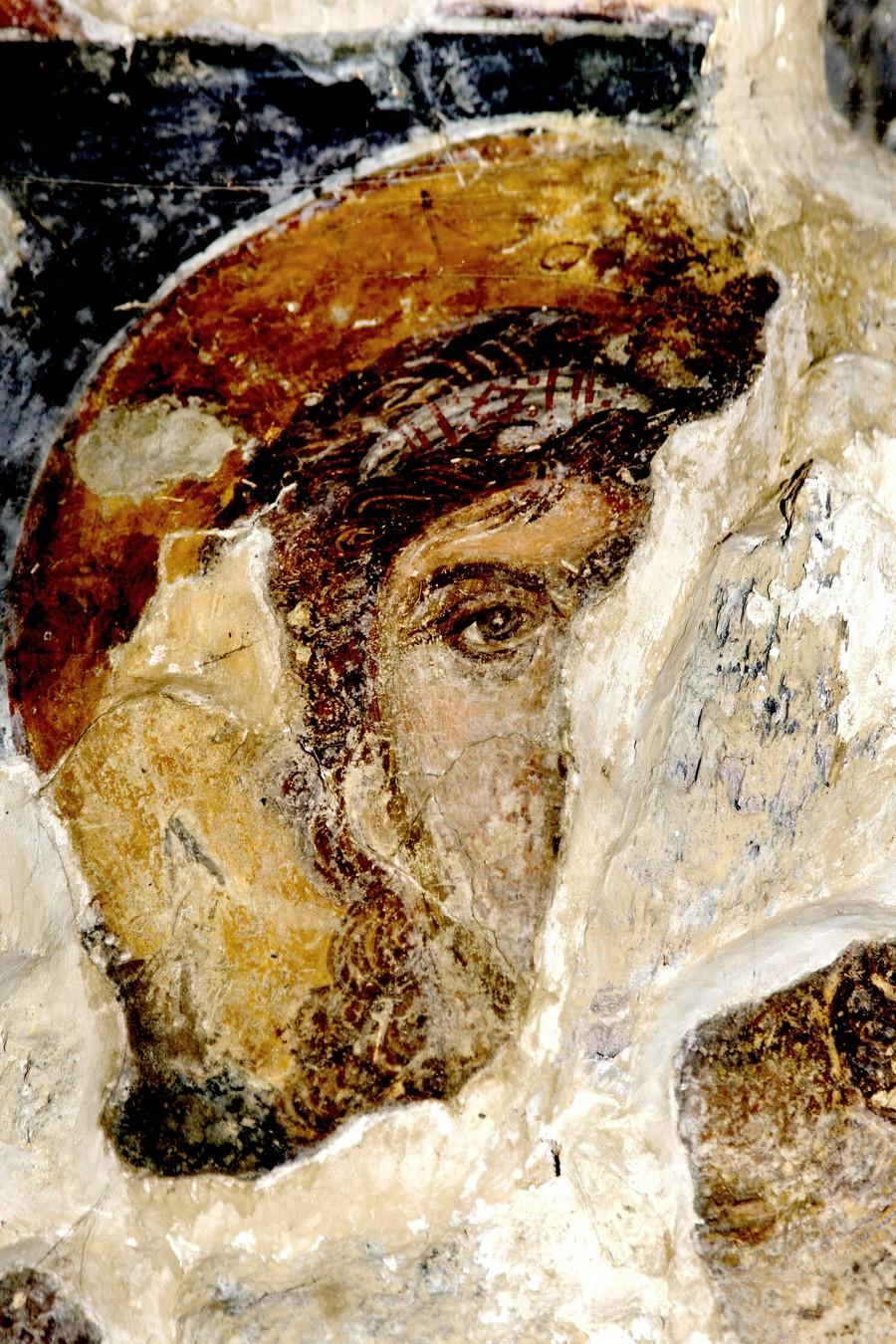 Архангел. ФрескаНузальской церкви (Северная Осетия). Конец XIII - начало XIV века.