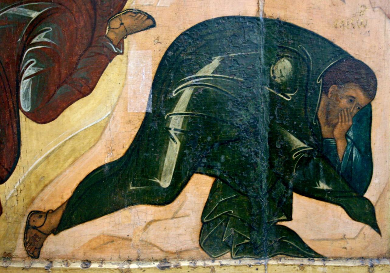 Преображение Господне. Икона. Ярославль, около 1516 года. Фрагмент. Святой Апостол Иаков Зеведеев.