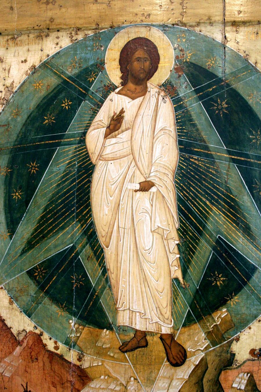 Преображение Господне. Икона. Ярославль, около 1516 года. Фрагмент.