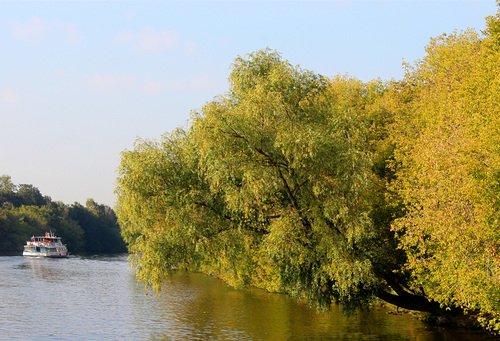 осень ,река Москва