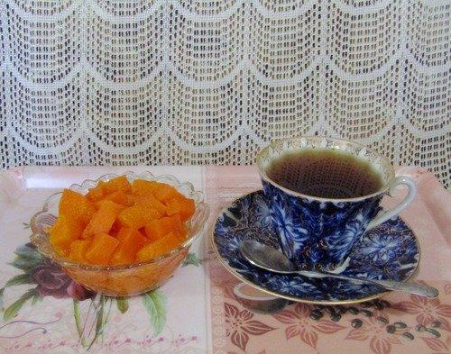 Чай с цукатами из тыквы