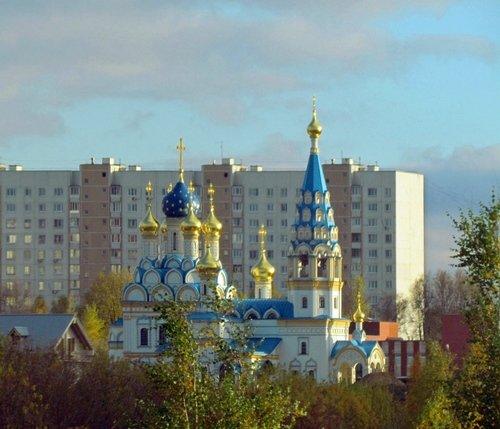 """Храм иконы божией матери """"Неувядаемый цвет"""" в Рублёво"""