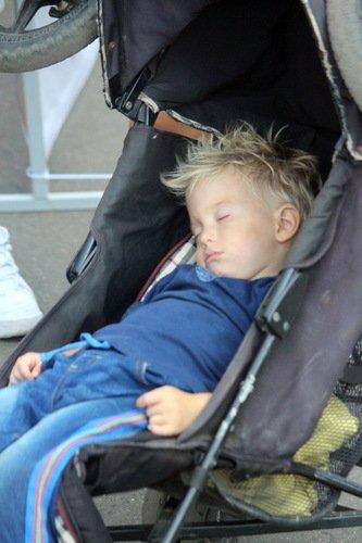 Спортсмен устал...