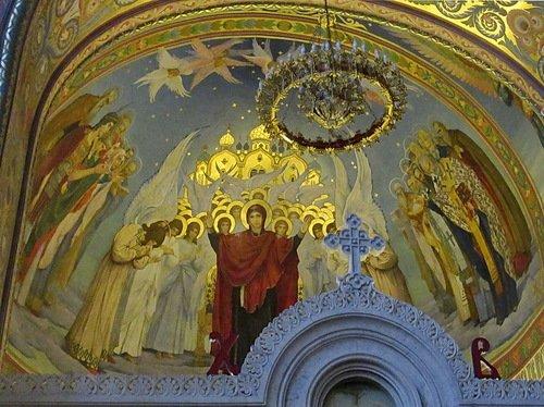 Церковь Сретения Иконы Божией Матери Владимирская в Гордеевке. Заалтарная роспись.