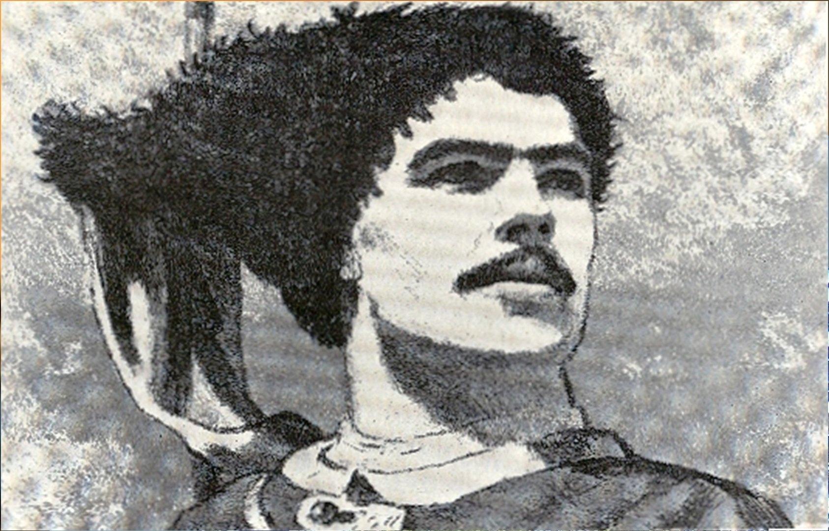 Кибрик Е. Остап. Иллюстрации к произведению Гоголя «Тарас Бульба». 1944-1945