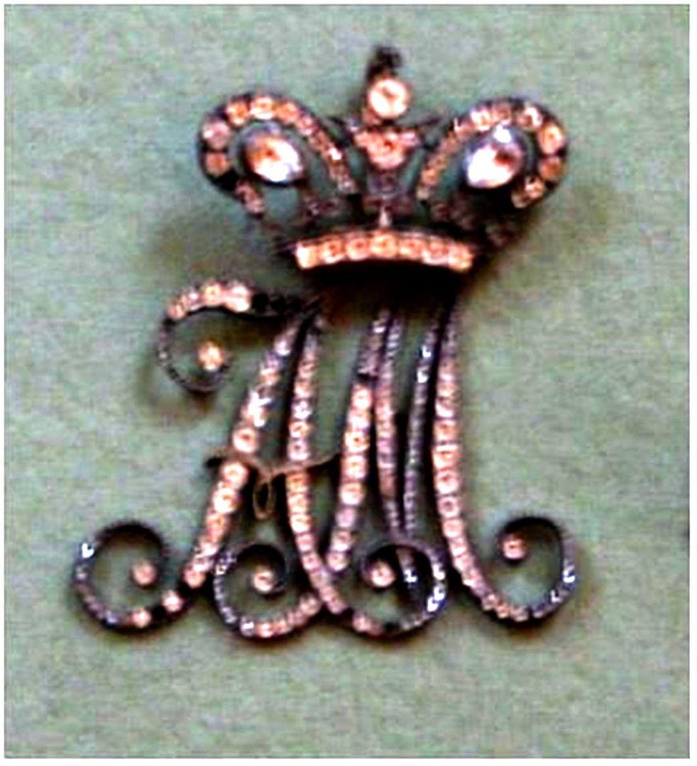 Фрейлинский вензель АМ , выдавашийся до 1828 года,