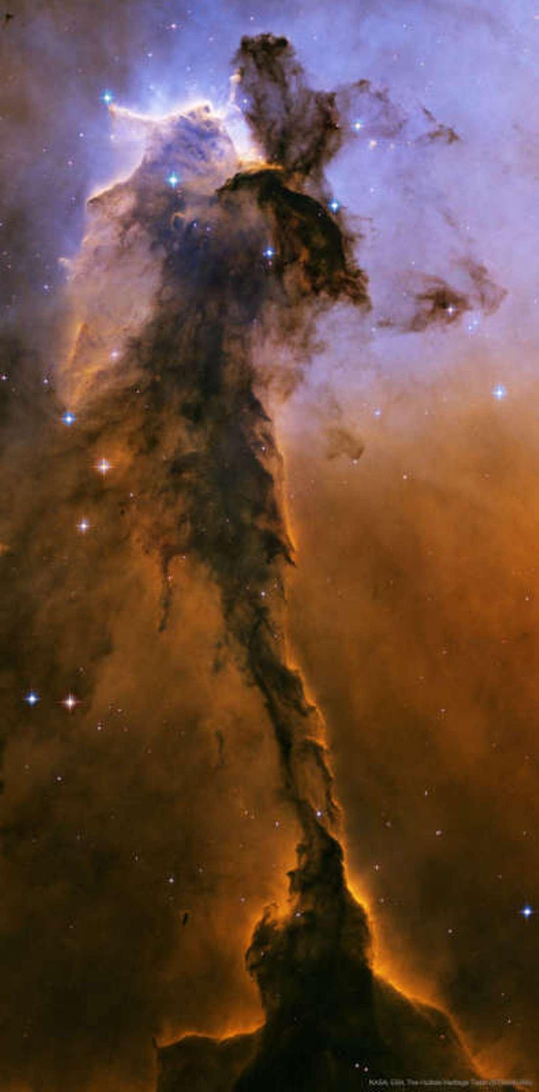 Фея (пылевая туманность ростом в 10 св. лет на расстоянии в 7000 св. лет от нас).