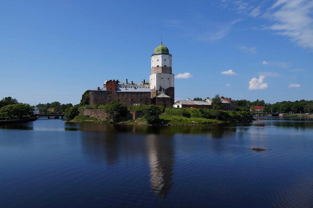 выборгский замок почтовая открытка дорисовали