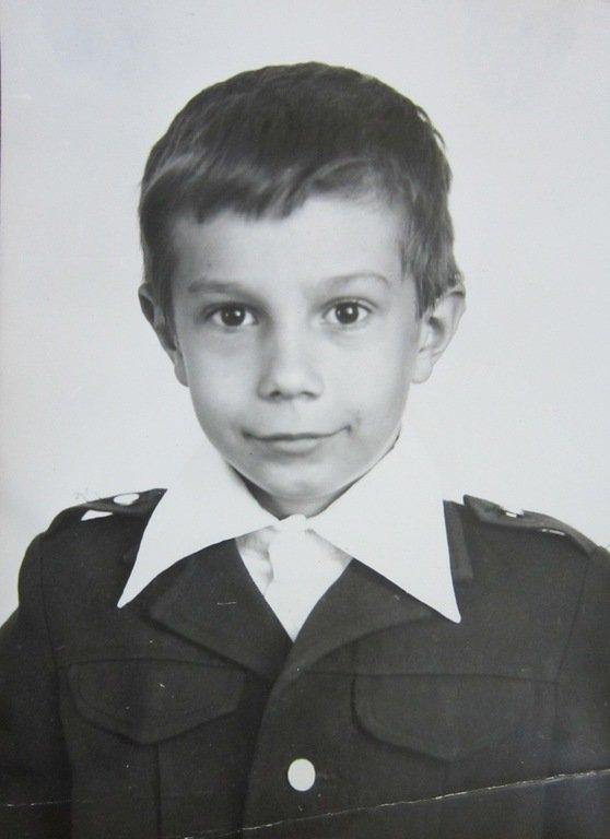 Первоклассник Александр. 1981 год.